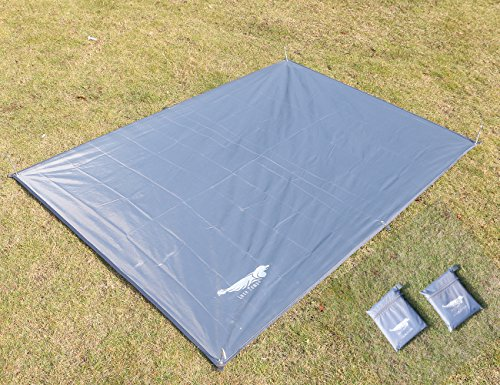 6 Person Floor Saver (Luxe Tempo All Purpose Tent Tarp Person Footprint for Floor Saver Picnic Blanket Easy Rain Cover Sun Shelter for Hammock-Waterproof Lightweight)