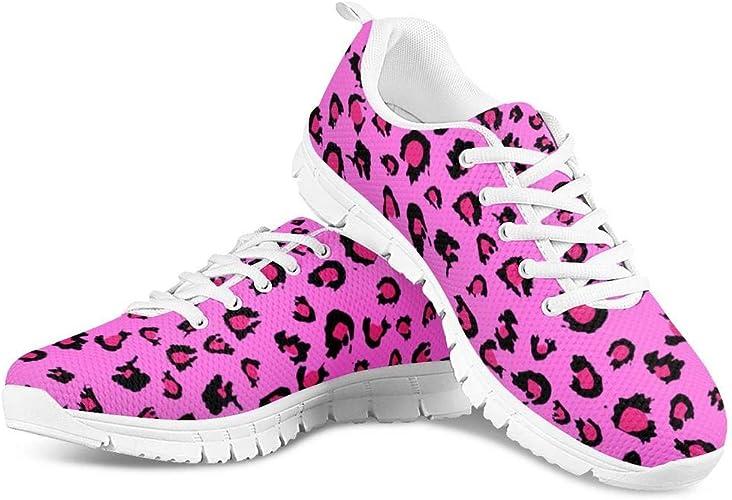 Hugs Idea Zapatillas Deportivas clásicas con Cordones, con Estampado de Leopardo, Informales, para Exteriores, ultraligeras, para Mujer, Color, Talla 43 EU: Amazon.es: Zapatos y complementos
