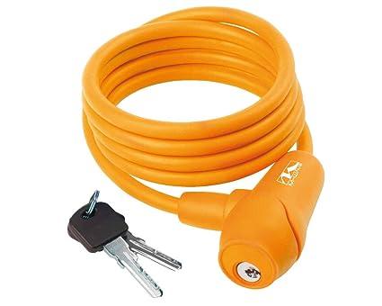 m wave lucchetto  M-Wave S 8.15 S Lucchetto a Spirale, Unisex, 12310171, Orange ...