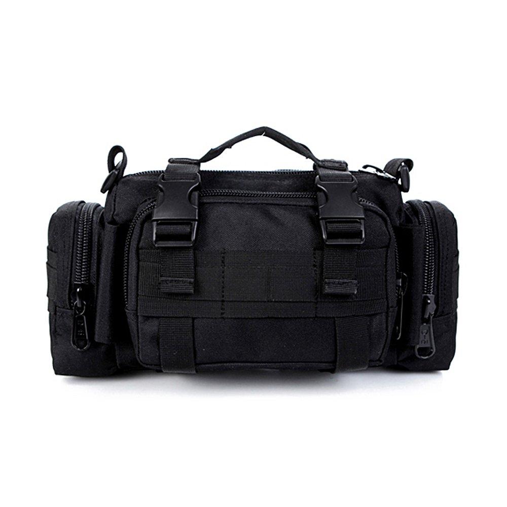 Tailcas® 600D Riñonera multiusos impermeable con multitud de compartimentos y bolsillos, se puede llevar como bandolera o a la cintura, ideal para camping, senderismo o como bolsa de deporte, especialmente diseñada para niños, adol