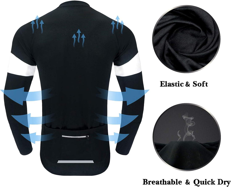 Breathable MTB Shirt Basic Series Dooy Mens Cycling Bike Jersey Long Sleeves Full Zipper Biking Shirts with Pockets