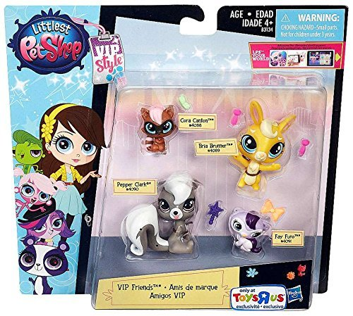 Littlest Pet Shop VIP Friends Figure 4-Pack