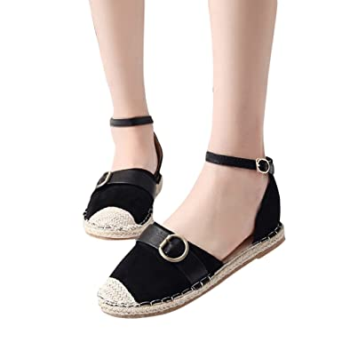 abda9cdea74f9 Amazon.com: Veodhekai Womens Flats Sandals Strap Buckle Shoes ...