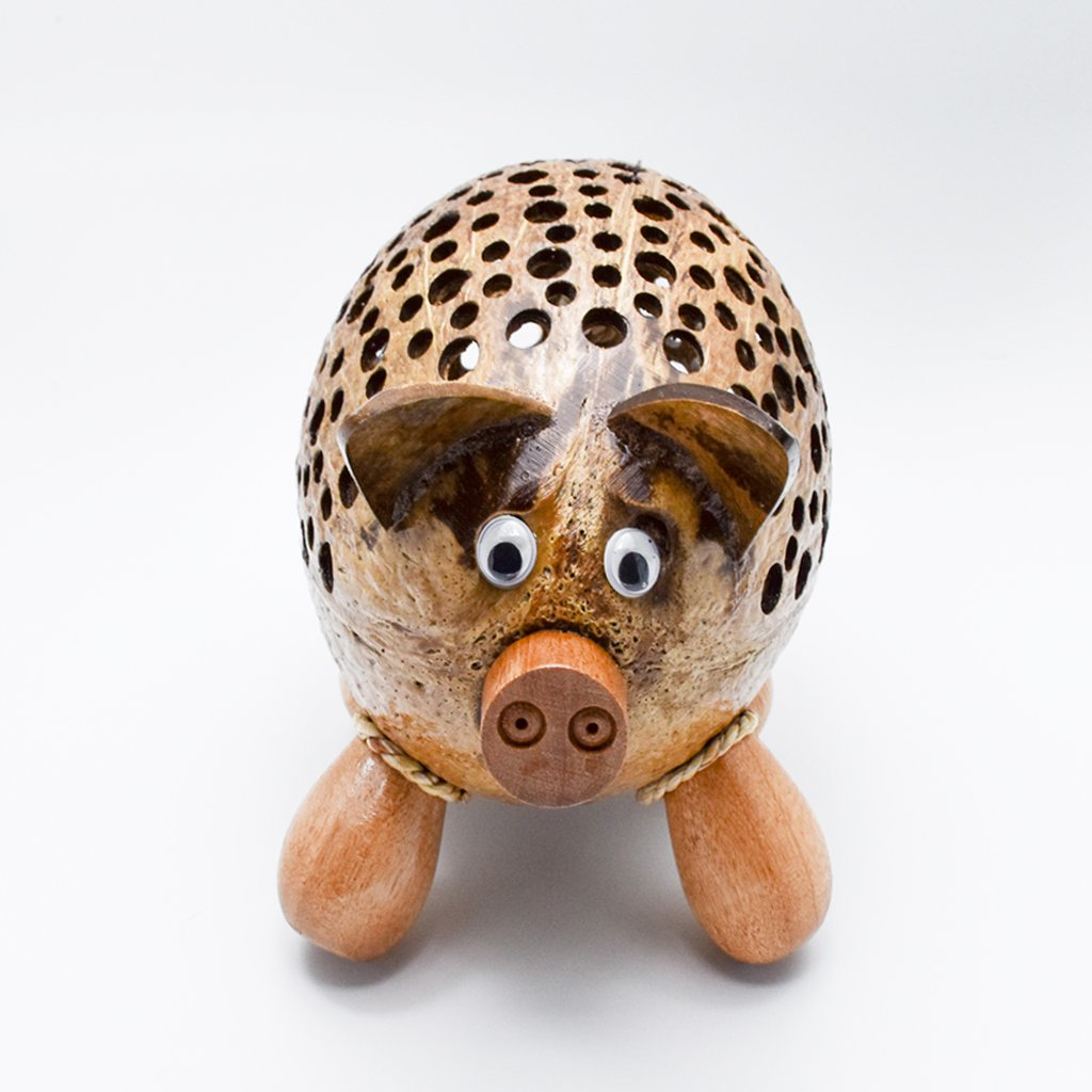 Coconut Shell Lamp – Cow Lamp night Wooden Crafts Handmade decorative