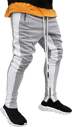 FLYFIREFLY Men's Gym Sport Pants Hip Hop Slim Fit Track Pants Workout Running Athletic Jogger Bottom