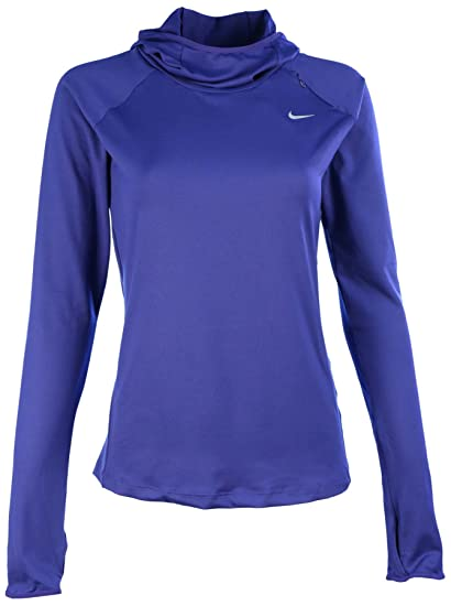 508a16b1f1f7 Nike Womens Element Hoodie - X-Small - Deep Royal Blue Reflective Silver