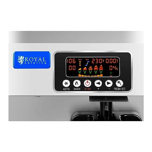 Royal Catering Máquina De Helados Soft De 5 Litros RCSI-25-1-IT (Capacidad Total De 5 Litros, Motor De 1500 Watt, Producción: 18-25 L/h): Amazon.es: ...