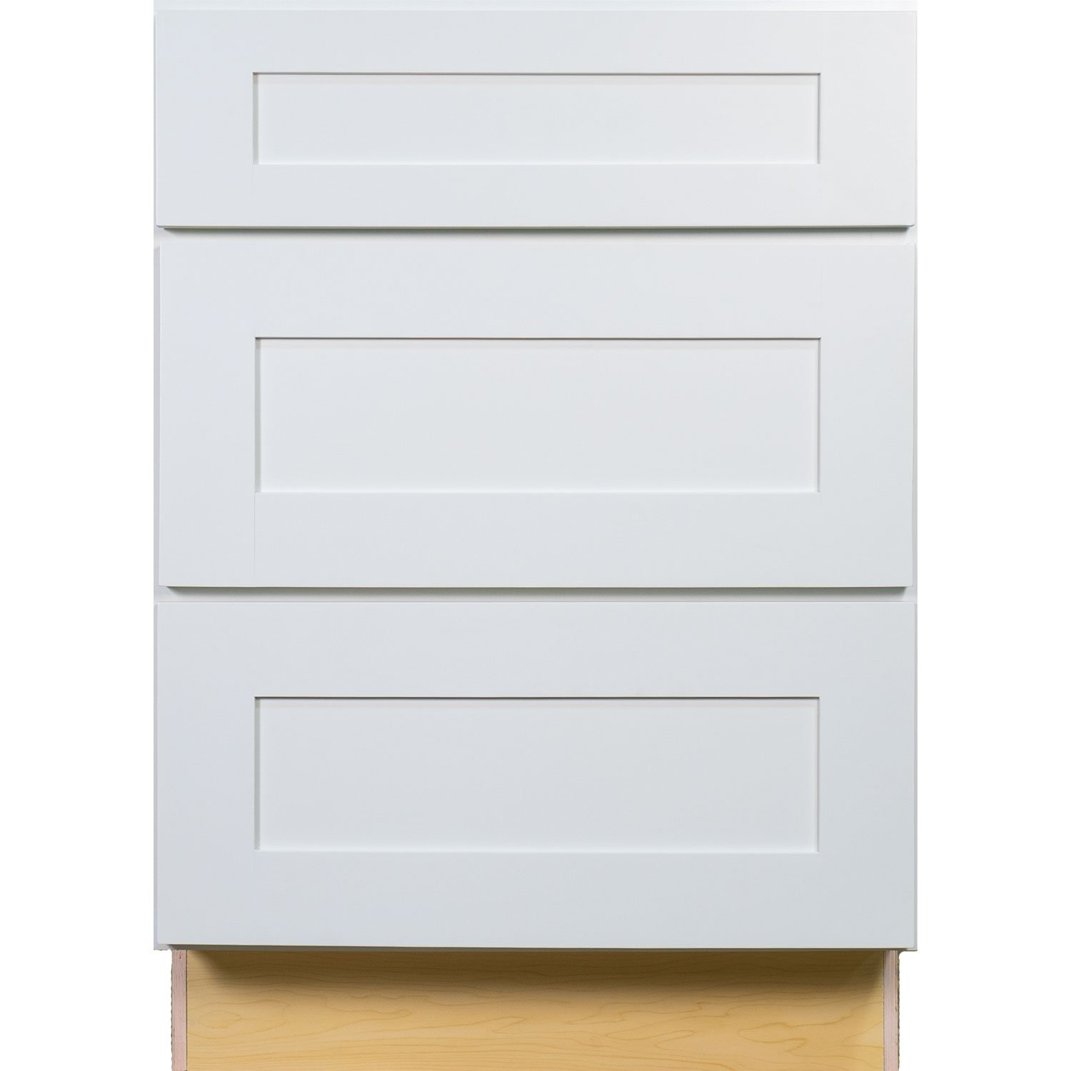 Everyday Cabinets 24 Inch Bathroom Vanity Drawer Base Cabinet In Shaker White With Soft Close Drawers 24 Amazon Com