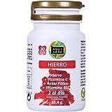 Hierro con ácido fólico y vitamina C para mejorar la vitalidad y la energía y evitar la anemia – Suplemento de hierro, ácido fólico y vitamina B12 recomendado para embarazos – 30 comprimidos