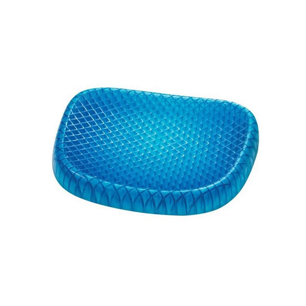 mochengbaihuo Gel Seat Cushion, Memory Seat Cushion for The Car Or Office Chair, Wheelchair Cover Sitter Soft Pad Pain Relief Back & Sciatica(Blue) Manufacturer