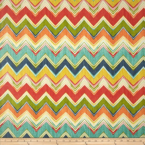 Swavelle/Mill Creek Indoor/Outdoor Culloden Chevron Fiesta Fabric By The Yard (Fabric The By Chevron Upholstery Yard)