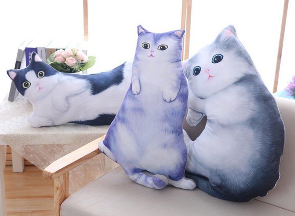Amazon.com: 3d gato de peluche almohada de cama cojín muñeca ...