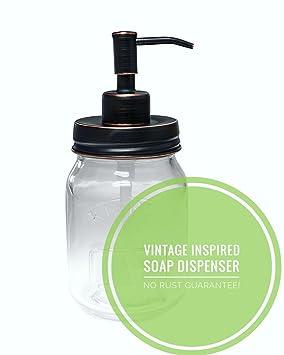 Dispensador de jabón líquido de la marca Eco Jars, estilo vintage