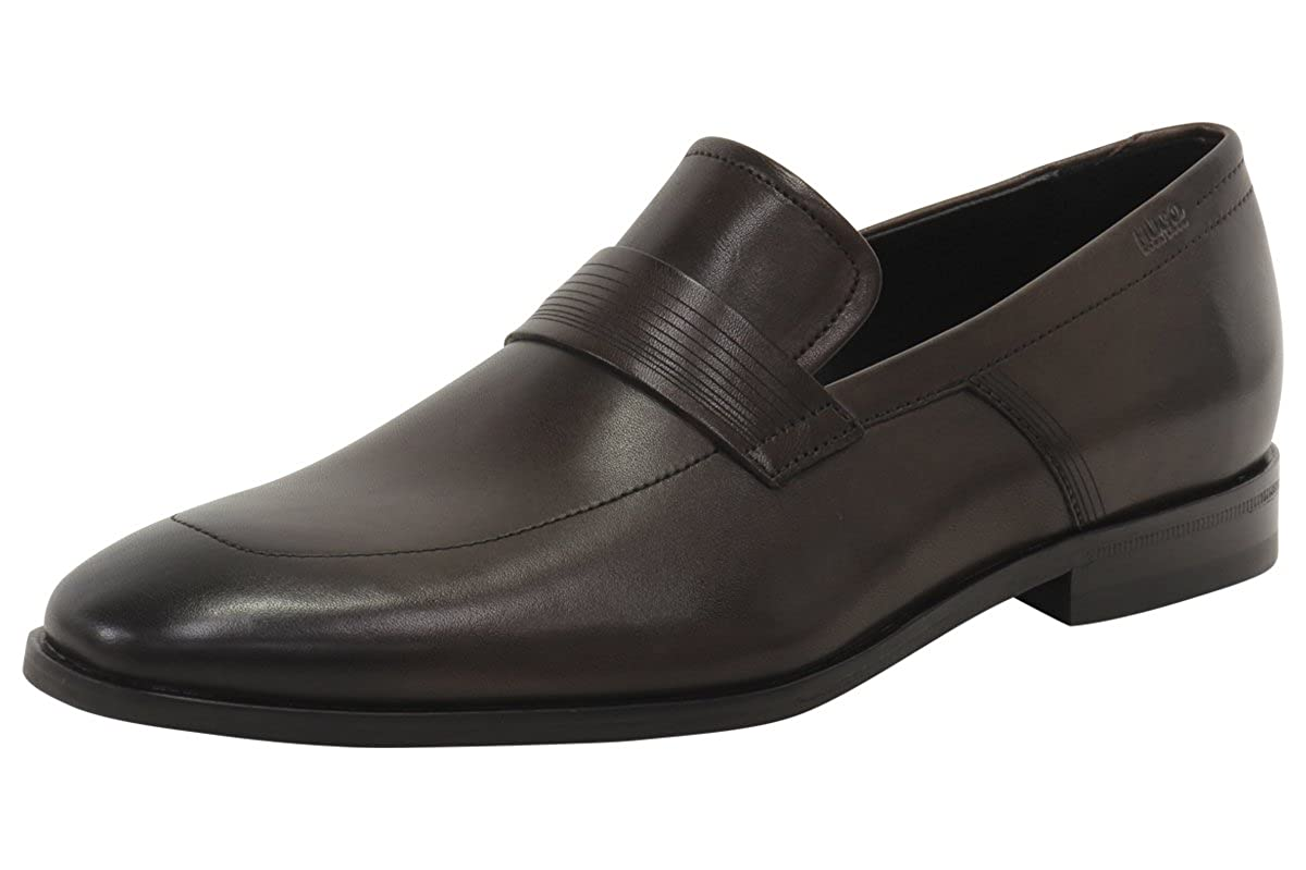 a22b0c6dc288 Amazon.com: Hugo Boss Men's Square_Loaf_Itls Dark Brown Leather Loafers  Shoes: Shoes