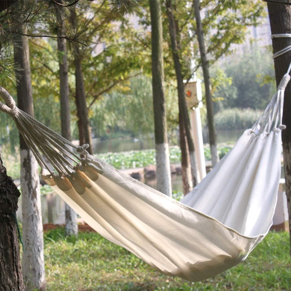 DOITOOL 1 Pz Amaca di Tela per Cortile di Alberi Campeggio da Viaggio Veranda Tempo Libero Interno Ed Esterno Amaca Portatile per Campeggio 200X80 Cm