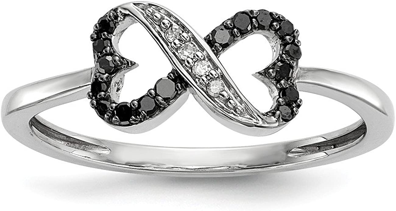 Sterling Silver Rhod-plated Cubic Zirconia Love Key Pendant