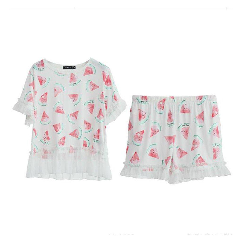 Pijama GAODUZI Summer Sweet Cute Cotton Underwear Teenage Student Manga Exteriores Corta de Dos Piezas Prendas de Vestir Exteriores Manga Pantalones Cortos 26cae4