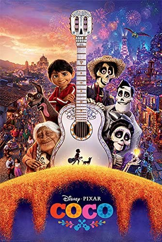 Póster Disney Pixar Coco - Guitar (61cm x 91,5cm): Amazon.es: Hogar
