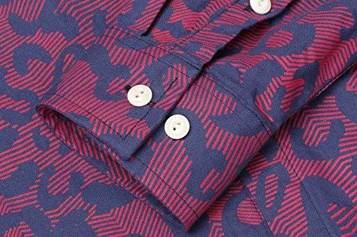 b5f25108ec63 COOFANDY Men s Floral Print Casual Long Sleeve Shirts Slim Fit Button Down  Dress Shirt