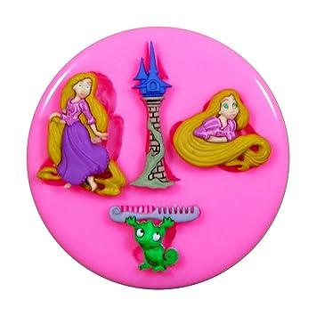 Rapunzel enredado Molde de silicona para la torta de Decoración Pastel de Cupcake Toppers Glaseado Sugarcraft Tool por Fairie Blessings: Amazon.es: Hogar