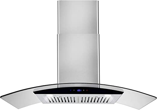 Amazon Com Akdy Convertible Kitchen Wall Mount Range Hood In Stainless Steel W Tempered Glass Touch Control And Carbon Filters 36 In Appliances