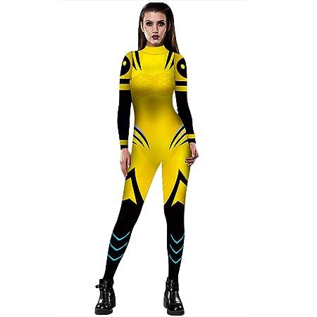 YSZDM Personalidad para Mujer 3D Impresión Digital Escote Alto ...