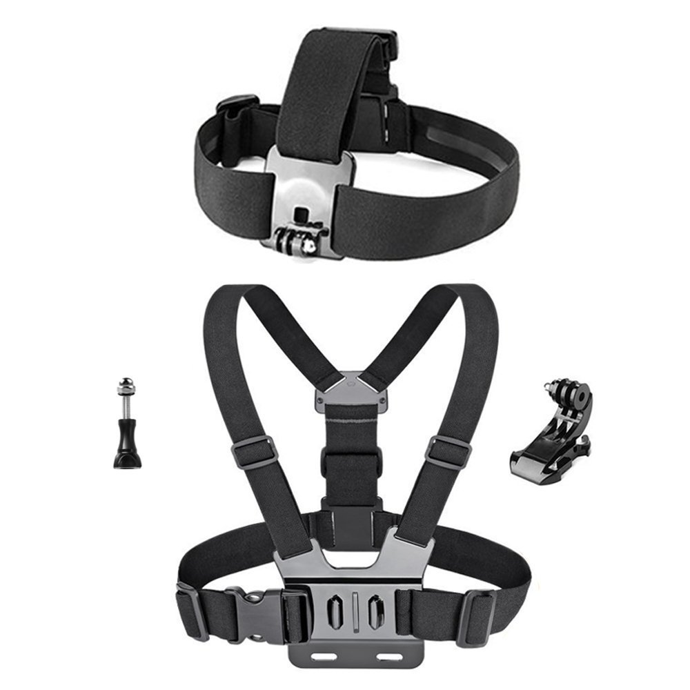 GREHOME Head Strap Mount Headstrap Chest Mount Harness Chesty Accessories Kit for AKASO EK7000 GoPro Hero 5/4/3+/3/2/1 GoPro Session 5 SJ Cam YI 4K Action Camera Lightdow Waterproof Camera