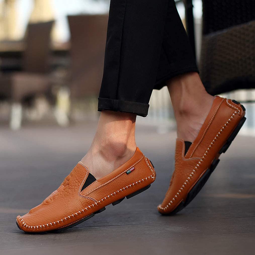 Sam Carle Mens Loafers Shoes Pull-On Comfortable Breathable Casual Fashion Driving Shoes
