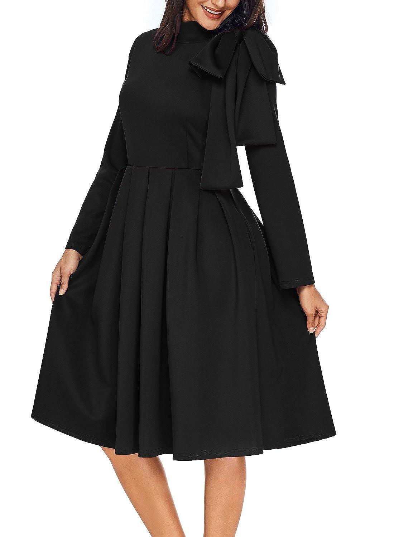 a3c2971f4c2 AlvaQ Fall Cheap Graduation Dresses for Women Party 2017 Evening Night  Elegant Club Skater Midi Dress at Amazon Women s Clothing store