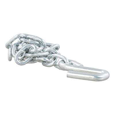 CURT 80020 27-Inch Trailer Safety Chain with 3/8-Inch S Hook, 2,000 lbs. Break Strength: Automotive