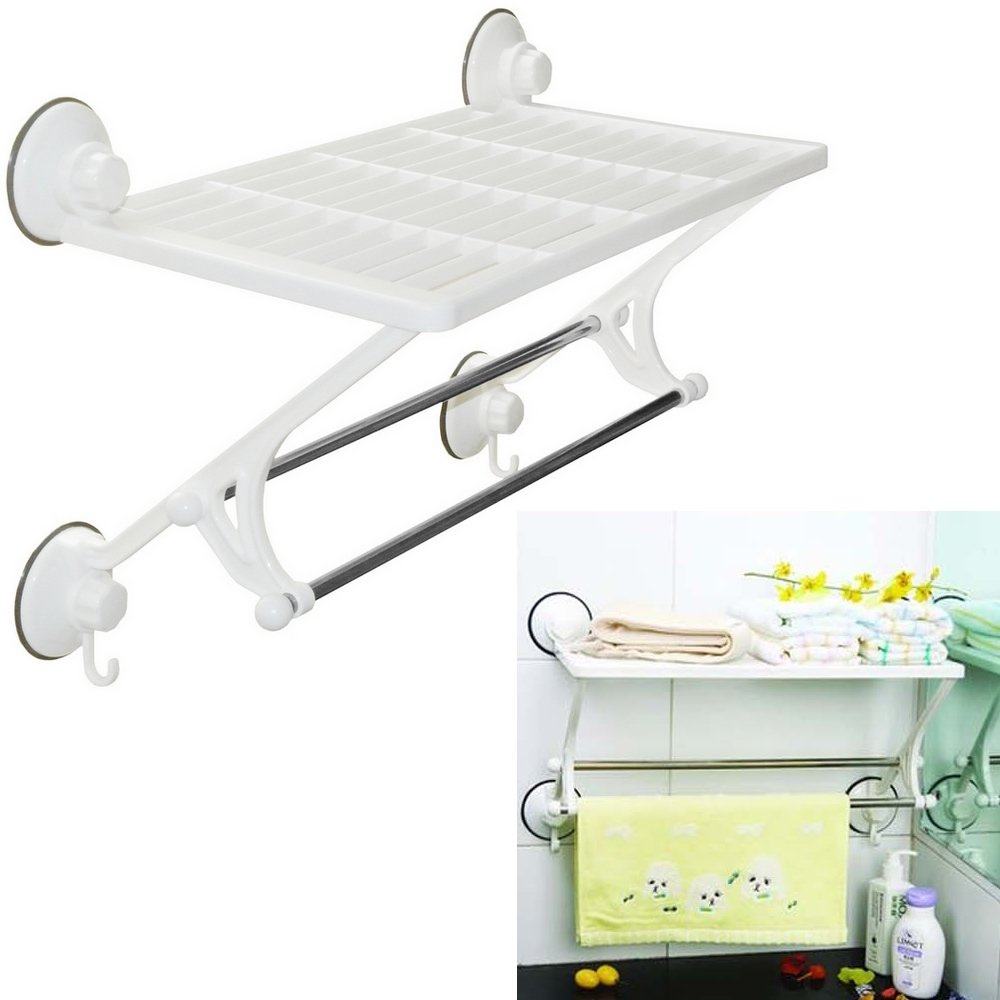 Promobo Etag¨re De Salle De Bain Fixation Ventouse Support