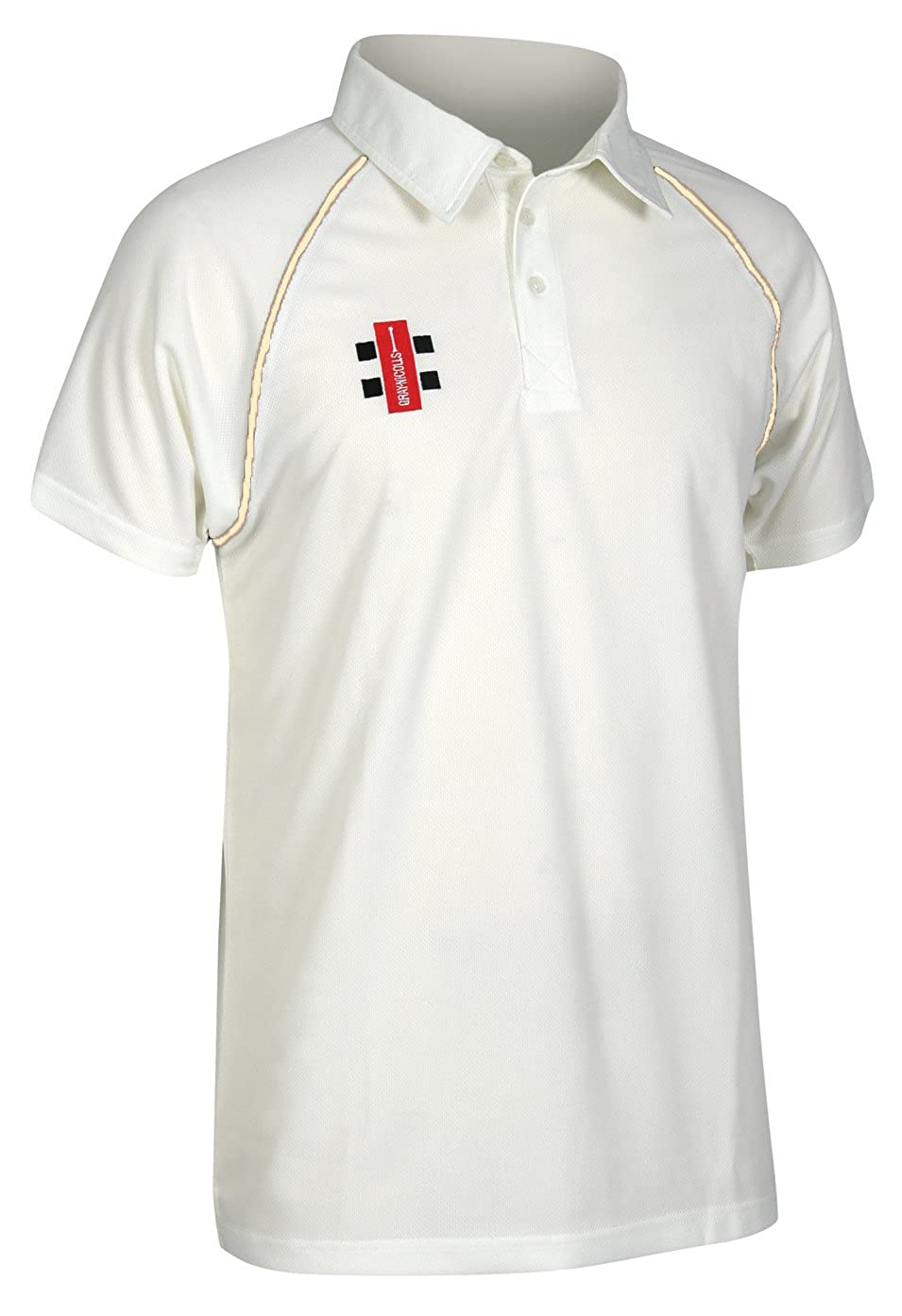 Gray Nicolls Kids Matrix Boys Short Sleeve Cricket Shirt 5 Trim Colours Availa
