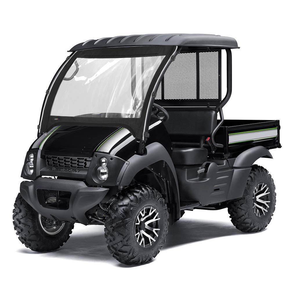 Mule 610 600 SX Front Windshield for Kawasaki Mule 600 610 4x4 / 610 4x4 XC 2015 2016 2017 2018 2019 KEMIMOTO UTV Front Windshield