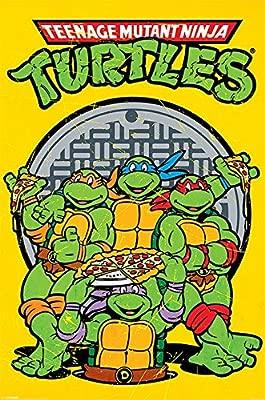 Pyramid International Teenage Mutant Ninja Turtles Retro Characters Cool Wall Decor Art Print Poster 24x36