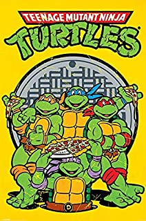 Amazon.com: Ninja Turtles Watercolor Wall Art Decor - Set of ...