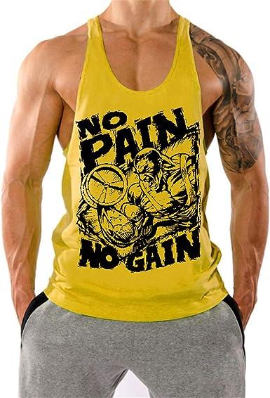 YeeHoo Deportivo Gym Camisetas Sin Manga Muscle Tank Tops de Tirantes Hombre Suelto Chaleco Fitness Gimnasio Algodón: Amazon.es: Ropa y accesorios