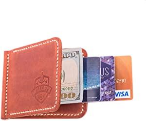 Sweepstakes - Leather Money Clip Wallet with Credit...