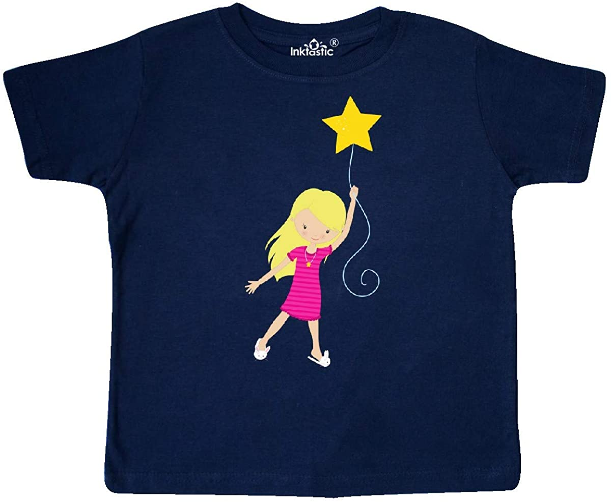 Cute Girl Toddler T-Shirt inktastic Girl in Pajamas Girl Holding a Star