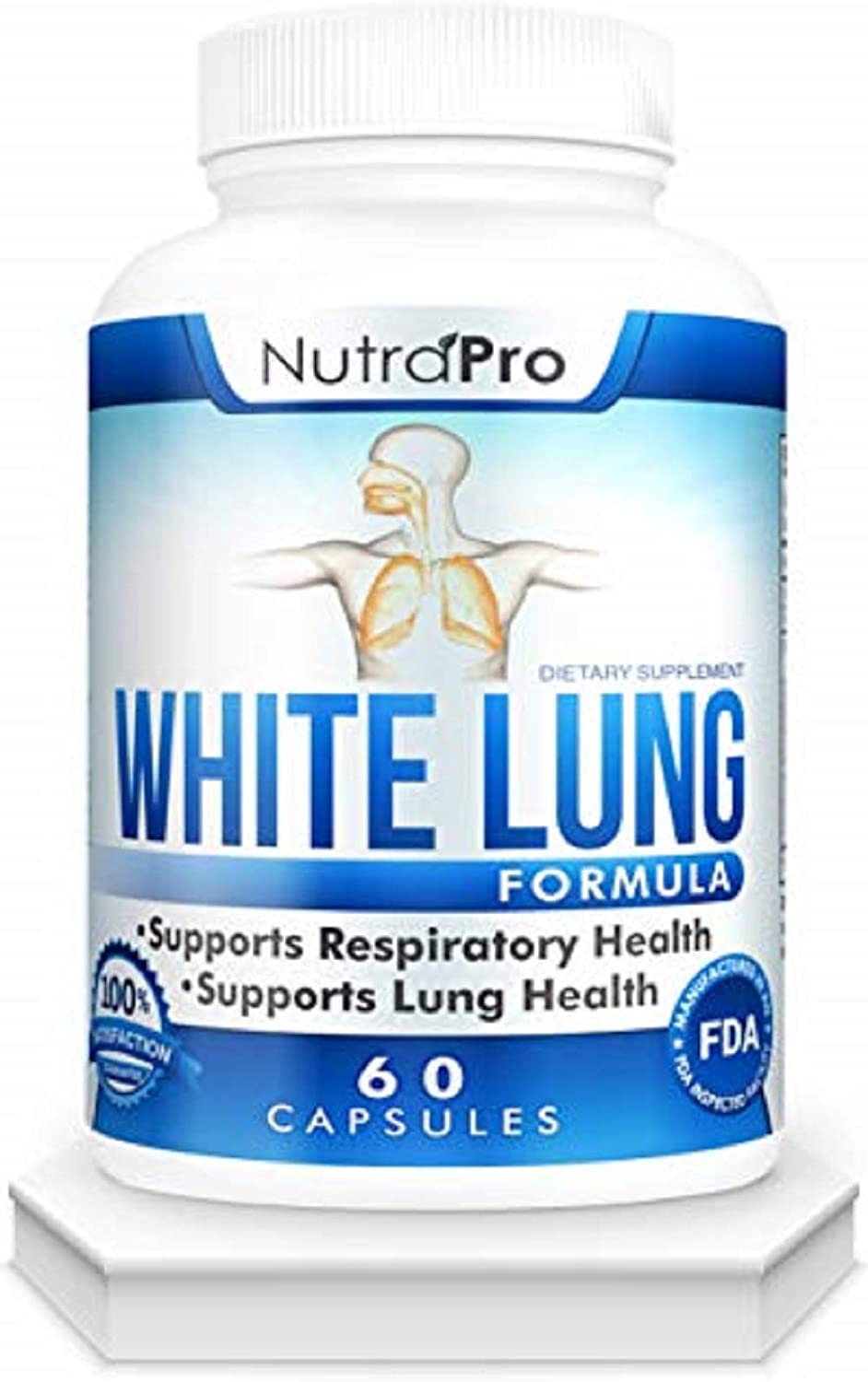 White Lung by NutraPro - Lung Cleanse & Detox.Support Lung Health. Supports Respiratory Health. 60 Capsule - Made in GMP Certified Facility.: Health & Personal Care