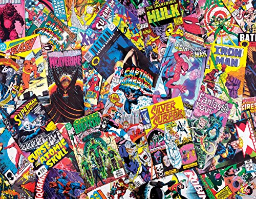 Springbok Puzzles - Comic Books Galore - 1000 Piece Jigsaw Puzzle - Large 30 Inches by 24 Inches Puzzle - Made in USA - Unique Cut Interlocking Pieces