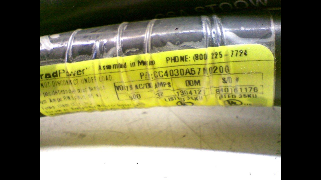 Brad Power Cc4030a57m020g Cordset 4 Pole Doublended Male//Female Cc4030a57m020g