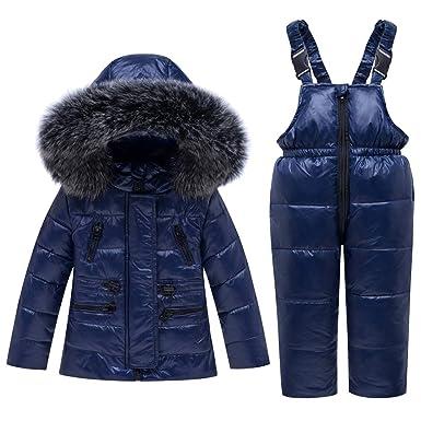 Bebé Unisex 2 Piezas Traje de Nieve cálido Abajo Chaqueta ...