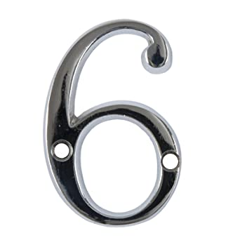 2 Chrome House Number Front Door Buildings Numeral Numbers Back Door Porch  New by Bridewell Ironmongery. Amazon com  2 Chrome House Number Front Door Buildings Numeral