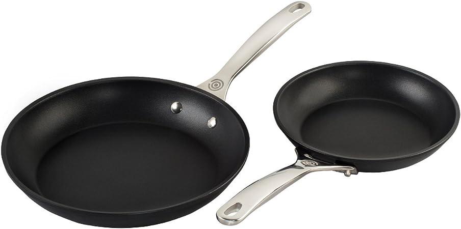 Le Creuset TNS6002 2 Piece Toughened Nonstick Fry Pan Set, 8 10