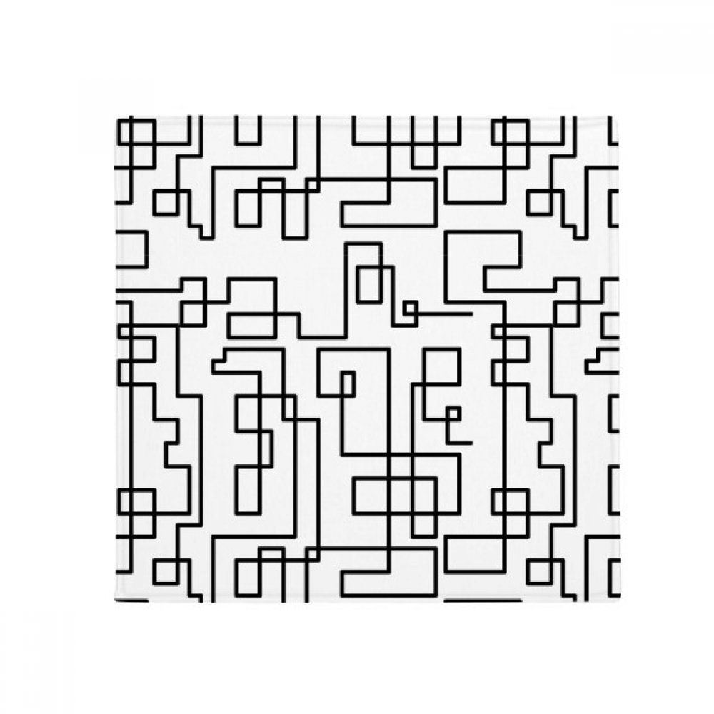 DIYthinker Hexagon Line Art Grain Illustration Pattern Anti-Slip Floor Pet Mat Square Home Kitchen Door 80Cm Gift