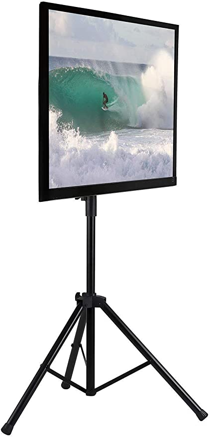 Mount-It! LCD Flat Panel TV Tripod, Portable TV Stand Fits LCD LED Flat Screen TV sizes 32-70 inch, Adjustable Height Pole, Supports up to 77 lbs and VESA 600x400 (MI-874): Amazon.es: Electrónica