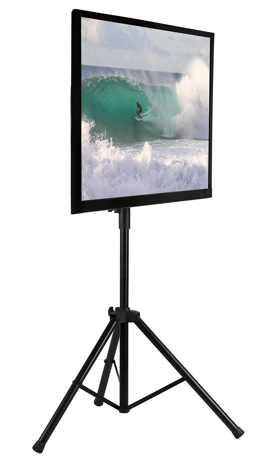 Mount-It! LCD Flat Panel TV Tripod, Portable TV Stand Fits LCD LED Flat  Screen TV sizes 32-70 inch, Adjustable Height Pole, Supports up to 77 lbs  and