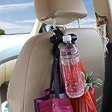 Deezio Headrest Hooks for Car, Car Back Seat
