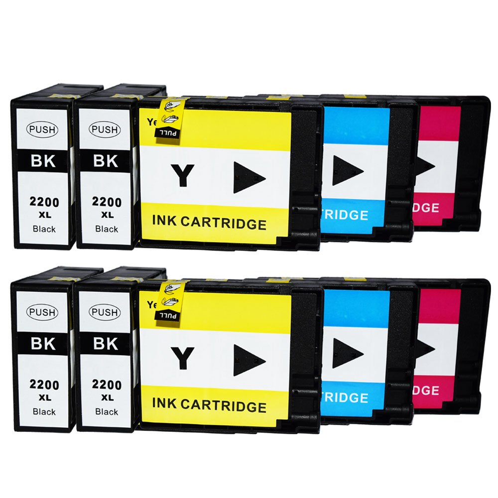 colour-store Lower価格wiht 10パック互換インクカートリッジ交換Canon PGI - 220、CLI - 221 ( 2 LargeブラックC - 220、2スモールブラックc-221、2シアン、マゼンタ2 , 2イエロー) B0716QVH4K
