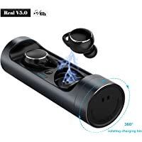 Wireless Earbuds,SZROBOY Bluetooth Earphones V 5.0 360 Free Rotation Wireless Stereo Sports Headphones (Hyun Black)